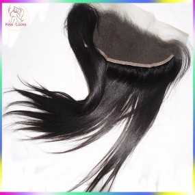 Straight Cambodian Vietnamese Virgin Raw Straight ear to ear Transparent Lace frontal Closure 13x4 Free parting