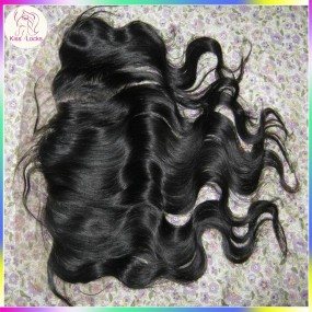 "Low Maintenace Hand Tied French Lace Virgin RAW hair frontals 13""x4"" Body Wave Texture Matching Type Eurasian,Russian,Mongolian,Korean,Bohemian"