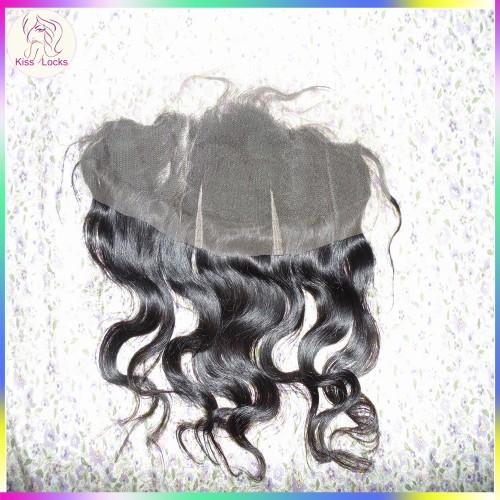 "Low Maintenace Hand Tied French Lace Virgin RAW hair frontals 13""x4"" Body Wave Texture Matching Type Eurasian,Russian,Mongolian,Korean,Bohemian"