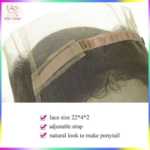 Lace 360 Frontal Natural Baby Hair 100% Virgin Filipino RAW Human Hair Silky Straight Natural Black