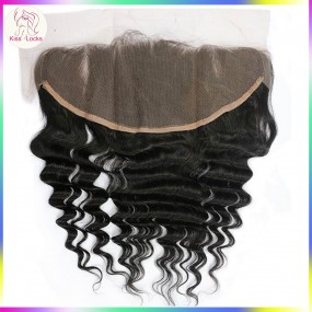 Bigger Size 13 by 6 frontal customize order(ship within 2-3 working days) Loose Deep Wave Texture Loose Curly Cambodian,Filipino,Laotian,Burmese ship in 7  days