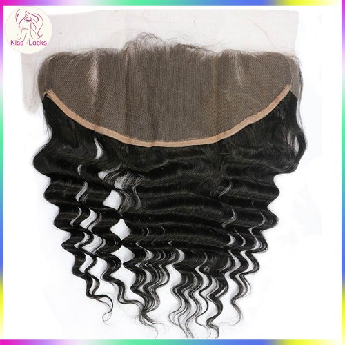 Grade 10A Loose Deep Wave Lace frontal Large size 13x6 Brazilian,Peruvian,Malaysian,Indian Top quality natural hairs Loose curly(Preorder ship within 2-3 days)