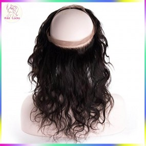 KissLocks Beauty Products 360 Full Lace Frontal Closure preplucked Hairline Filipino Raw Virgin Hair Expedit shipping