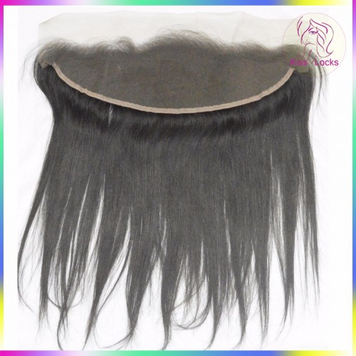 Straight Cambodian Vietnamese Virgin Raw Straight ear to ear Lace frontal Closure 13x4 Free parting