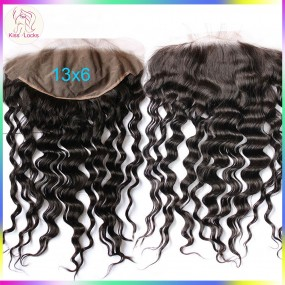 Grade 10A Loose Deep Wave Lace frontal Large size 13x6 Brazilian,Peruvian,Malaysian,Indian Top quality natural hairs Loose curly(Preorder ship within 2-3 days) ship in 7  days