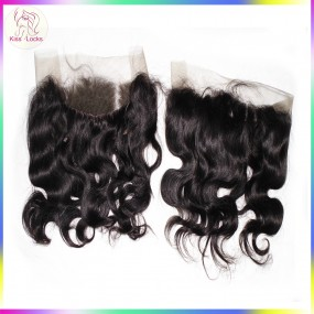 360 Lace Frontal Malaysian Body Wave Human Hair Natural Hairline With Baby Hair Natural Color Free Shipping
