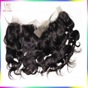 Indian Virgin Hair Body Wave Pre Plucked 360 Lace Frontal Closure Natural Hairline Lace Band With Baby Hair