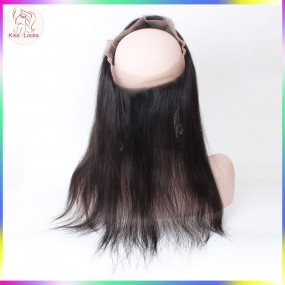 "360 Lace Frontal Raw Straight Hair 10-20"" 1 Piece Free Part Swiss Lace Hair Types Persian,Armenian,Burmese"