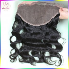 Ear to Ear frontal Body Wave 13x6 Big Size Full Swiss Lace Frontals Preplucked Hair Line Filipino,Cambodian,Laotian,Burmese Hair Type Grade 10A