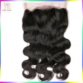 "KissLocks Products 360 Full lace frontal closure with adjustable strap 10""-20"" inches Indian Peruvian Raw wavy hair type"
