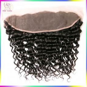 Raw Unprocessed Natural Human Hair 100% Virgin Hair Dark Brown Lace Frontal(with protection boarder) 13x4 different hair types Grade 10A