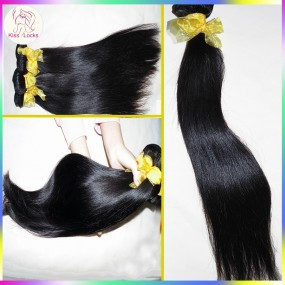 Thick 100g 10A Unprocessed Raw Laotian Virgin human hair straight 100% Unprocessed Raw Hair weave Kiss Locks