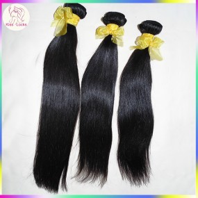 Fabulous Natural Hair Extensions 100 percent Rare Laotian Smooth Straight Virgin hair Weave 3 bundles Fast Deal