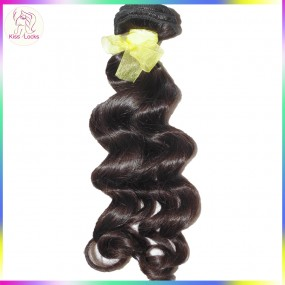 "KissLocks Raw Hair No Acid Bath 1 Bundle of Laotian Loose Deep Wave 12""-28"" VIRGIN Unprocessed 10A Top Quality"