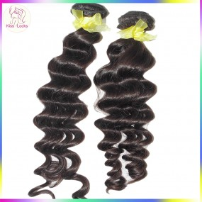 100% Real Human Hair 10A BEST Laotian Deep Loose Curly Virgin Hair Weaves 3 bundles Deal Clean Wefts Alibaba Market