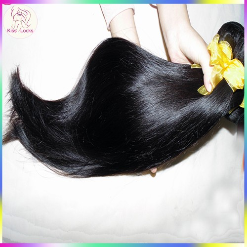 Mix lengths 10A Thick 3 bundle deals Silky Straight wave Virgin Laotian(Laos) Hair Can be bleached Clean Wefts