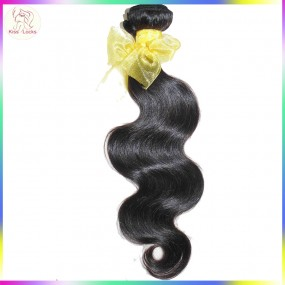 Sample 1 bundle 100g 10A Unprocessed Raw Laotian Virgin human hair body wave texture Special Weave,No tangle fast shipping