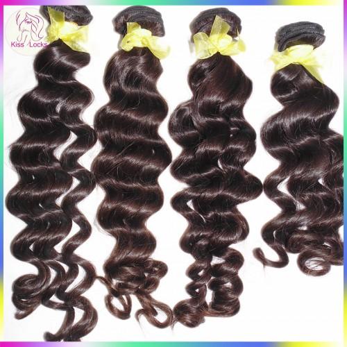 Gentleman Love Exotic Girly Texture 4 Bundles Laotian Virgin Human Hair Deep Loose Big Curls Grade 10A Premium Natural Hair
