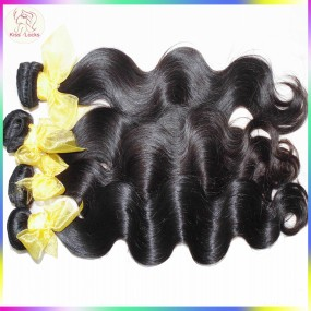 "New Rare South Asian Exotic 10A Laotian Virgin Human Hair Body Wave 3pcs/lot (12""-28"") Medium luster No Mixture"