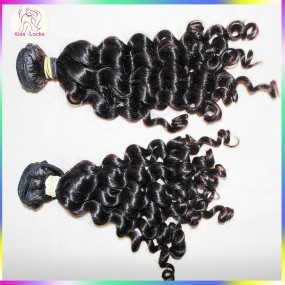 Promotion price real 10A best quality deep loose curly malaysian virgin hair 2 bundles deal,5A stars vendor