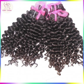 10A KissLocks Curly Weave 3 bundles Malaysian Italian Deep Curls Virgin Human Hair 300g Full Natural Colors Vivid Cute Style