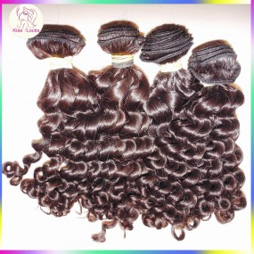 10A Quality 4pcs lots Steamed virgin curly Malaysian hair Soft BIG Curls Tangle free Unique KissLocks Raw Fashion Hair