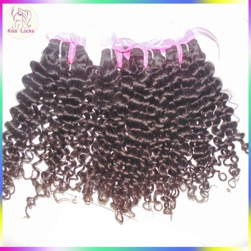 Grand Nubian Curl New Natural Virgin Malaysian Human Hair Wefts 4 bundles Flawless KissLocks Raw Hair Extension Top 10A