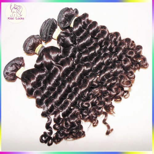"Hot selling Dark Brown Virgin 10A Malaysian curly hair 3 bundles(300g) 12""-28"" sale flawless KissLocks weave in STOCK"