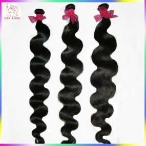 "Boutique KissLocks Unprocessed virgin hair 3 bundles malaysian Deep Body wave 26""-36"" Long Extensions Can be bleached 10A"