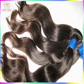 New Arrival Malaysian Virgin Hair Natural body wavy Wefts 3pcs/lot Free Tangle Natural Medium Luster
