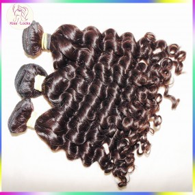 Real 10A hair thick full bundles Malaysian deep bouncy curly virgin hair weft 3pcs mix lots 100% unprocessed KissLocks FAB hair