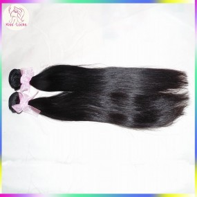 Extra 2 bundles Deal Unprocessed Mongolian Virgin RAW Human Hair Grade 10A Natural Straight Weave