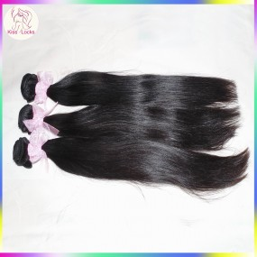 Low maintenance 10A Best Raw Coarse Straight Weave Virgin Mongolian Human Hair Extensions 3pcs(300g) Bouncy Weft