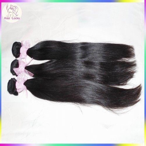 100g Unprocessed 10A Mongolian virgin Straight hair 1 bundle Sample Hair KS RAW Hair Brand New
