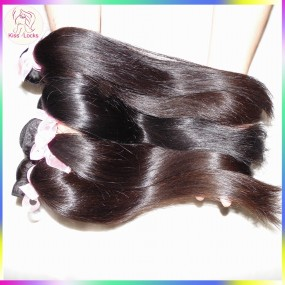Genuine Virgin 10A Mongolian Natural Straight Raw Hair Weave 3 Bundles Deals 100% Human Hair Weave Beauty Products