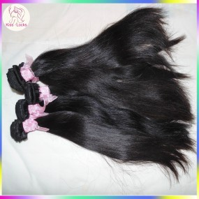Beauty Salon Supplier High Quality 10A Raw Virgin Hair KissLocks Mongolian Straight Hair Extensions 4pcs/lot