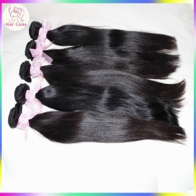 BLACK FRIDA Sweetheart Nature FULL Sew In Weave Seller KissLocks Hair Products 4 bundles Amazing Mongolian Virgin Straight Extensions