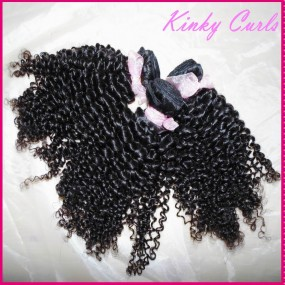 "3 bundles deal 10A Afro kinky curly virgin Mongolian human hair weave 12""-30"" inches small tight curls Unique style"
