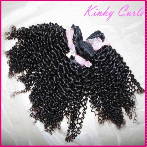 African American Tiny Curls Sewed Kinky Beach Curls 10A Mongolian human hair weaves 4pcs/lot Gorgeous Virgin Hair