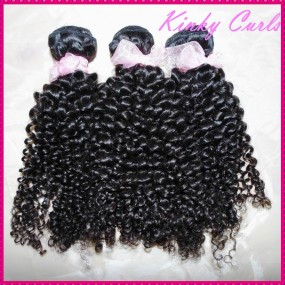 "Nice 10A Premium quality 100% Virgin Mongolian hair Kinky curly 3 bundles 12""-30"" Natural dark brown Extensions"