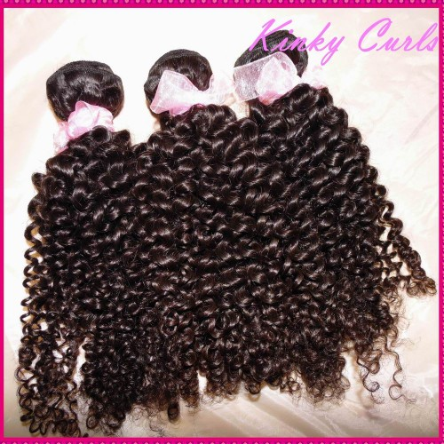 New 10A Unprocessed Mongolian Afro Kinky Bouncy Small curly Virgin Hair 4 bundles Can Be Dyed,no lice