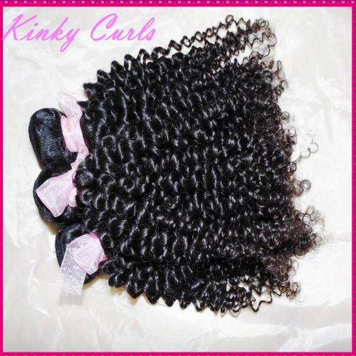 """3 bundles deal 10A Afro kinky curly virgin Mongolian human hair weave 12""""-30"""" inches small tight curls Unique style"""