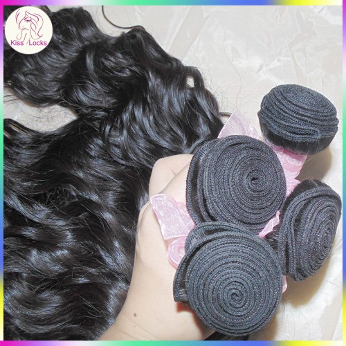 Natural Waves on Sleek Mongolian Water curls Virgin Unprocessed Hair 3pcs/lot Peaceful Charming Looking Top 10A