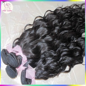 100g Unprocessed 10A Mongolian virgin water wave hair 1 bundle Sample Hair Kiss Locks Brand New Best Quality