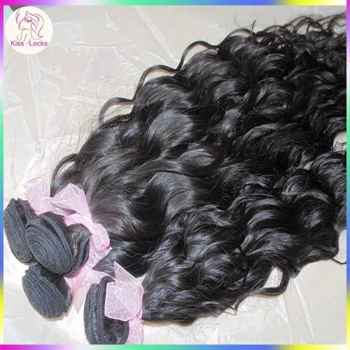 Natural Waves on Sleek Mongolian Water curls Virgin Unprocessed Hair 3pcs/lot Peaceful Charming Looking Top 10A