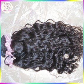 Hawaii beach Waves Premium Quality RAW Water loose curls Mongolian Virgin Hair Weave 4 bundles deal 400g Thick Texture Grade 10A