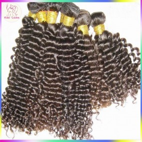 4 bundles Premium Virgin Peruvian tight big curly hair machine wefted(double stitched) Great Aliexpress vendor