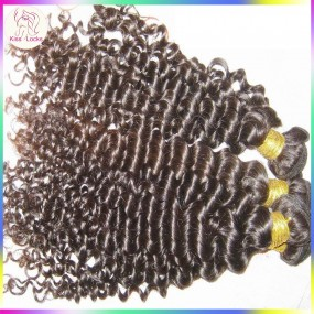 Top 10A Unprocessed virgin Peruvian Tight Curly hair extension Weave 3pcs/lot Natural color(undyed) Free shipping