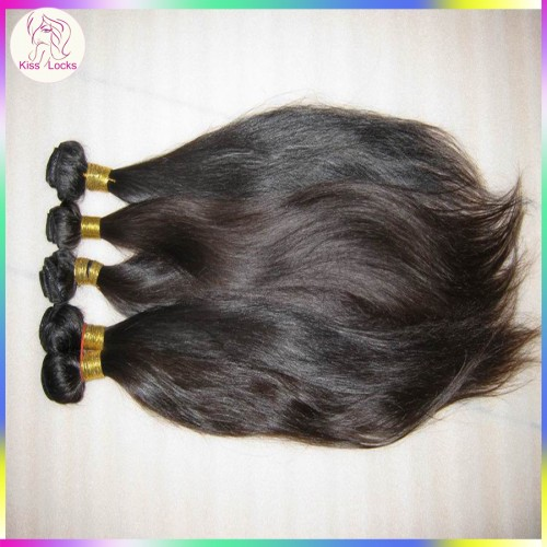 1 bundle deal Superior Quality Peruvian Straight Hair Human Raw Hair Weaving Natural Brownish Luster Free Shipping