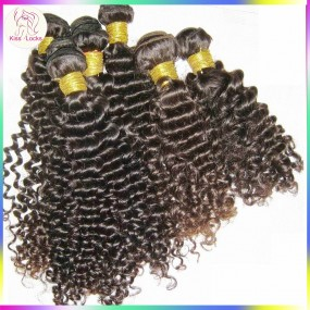 10pcs/lot 1KG wholesale Deep curly Peruvian Virgin Human hair Weave Brownish Luster Shiny Shade fast shipping 10A